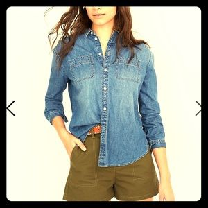 Gianni Bini Oversized Chambray Shirt